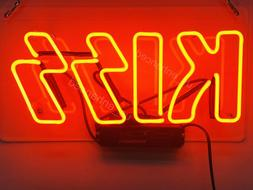 New Kiss Love Neon Sign Acrylic Gift Light Lamp Bar Wall Roo