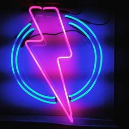 New Lightning Round Home Decor For Bedroom Gift Acrylic Neon