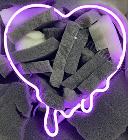 New Make Your Heart Melt Purple Neon Sign Acrylic Gift Light