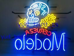 New Modelo Especial Sugar Skull Ber Bar Artwork Neon Light S