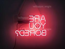 New Pink Are You Bored Acrylic Neon Sign 14'' Light Lamp Wal