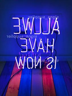 New Purple All We Have Is Now Acrylic Neon Sign 14'' Light L