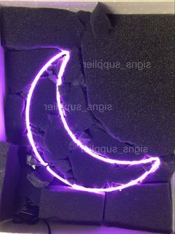 New Purple Moon Neon Sign Acrylic Gift Light Lamp Bar Wall R