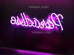 New Purple Paradise Acrylic Neon Sign 14'' Light Lamp Wall D