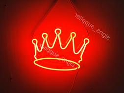 New Red Crown Neon Sign Acrylic Gift Light Lamp Bar Room 14""