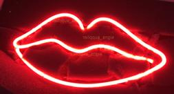 "New Red Lips Neon Sign Acrylic Gift Light Lamp Bar Wall 14""x"