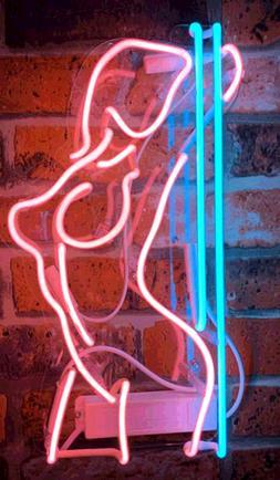 New Sexy Girl Stripper Pole Dance Real Glass Acrylic Neon Li