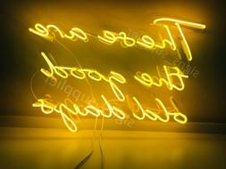 New These Are The Good Old Days Yellow Pub Logo Acrylic Neon