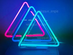 New Three Triangles Neon Sign Acrylic Gift Light Lamp Bar Wa