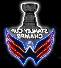 New Washington Capitals 2018 Stanley Cup Champs Light Neon S