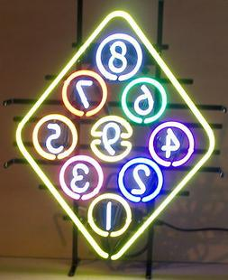 New Wholesale lot of 5 Billiards Pool room neon sign gameroo
