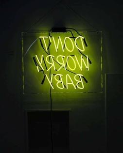 New Yellow Don't Worry Baby Acrylic Bedroom Gift Neon Light