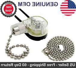 New Zing Ear ZE-109 Ceiling Fan Canopy Lamp 2 Wire Light Pul
