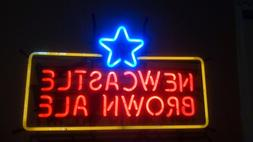 Newcastle Brown Ale neon sign used less than 24 hours