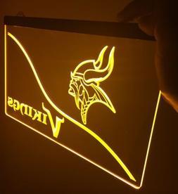 NFL Minnesota VIKINGS LED Neon Sign for Game Room,Office,Bar