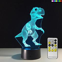 Night Light Dinosaur 7 Colors Change with Remote Control Goo