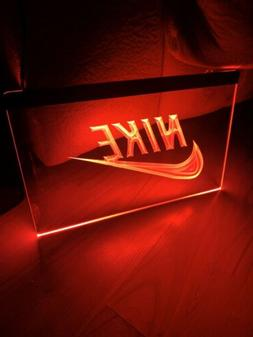 NIKE LED NEON RED LIGHT SIGN 8x12