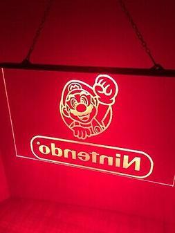Nintendo Mario Led Neon Light Sign Game Room , Bedroom U.s.a