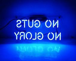 ''No Guts No Glory' Fashion Handcraft Real Glass Tubes Neon
