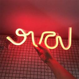 Novelty Neon Led Flamingo Night Light Cactus Neon Sign Wall