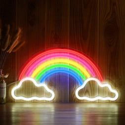 Novelty Neon Sign Rinbow LED Lights Art Wall Decorative USB
