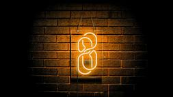 Number 8 Neon Sign Light Home Room Wall Hanging Nightlight A