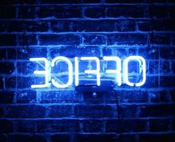 "Office Neon Sign Bar Decor Gift 14""x7"" Light Lamp"