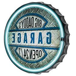 Officially Licensed Big Daddy's Garage Open 24/7 Bottle Cap