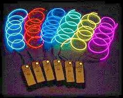 OOOUSE Neon Glowing Electroluminescent Wire  with Battery Pa