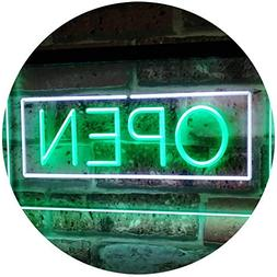 AdvpPro 2C Open Shop Display Rectangle Dual Color LED Neon S