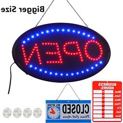 LED Open Sign,23x14inch Larger LED Business Sign,Advertiseme
