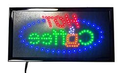 LED Open Sign On/off with Chain High Visible Bright Colors L
