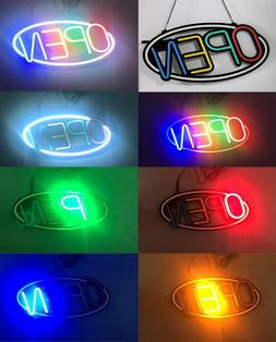 Open sign led neon light outside with remote
