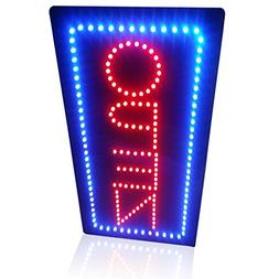 Leadleds 1910-2 Open Sign Portable 19-inch Height Vertical N