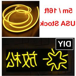 Outdoor Yellow LED Neon Rope Light Commercial Sign Party DIY