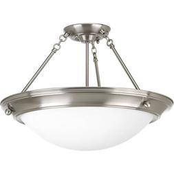 Progress Lighting P3569-09 Med Semi-Flush, 3-100-watt