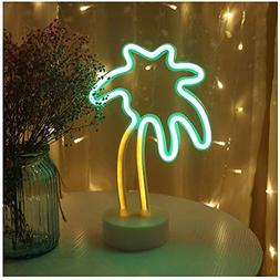Palm tree LED neon sign night light with base coconut tree m