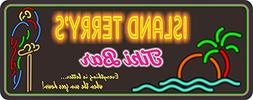 Personalized Tiki Bar Sign With Neon Effect Font & Your Cust