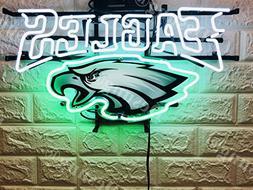 "Desung 20""x16"" Philadelphia Sports Team Eagle Neon Sign  HD"