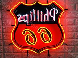 """Desung Brand New 24""""x20"""" Phillips 66 Gasoline Neon Sign with"""