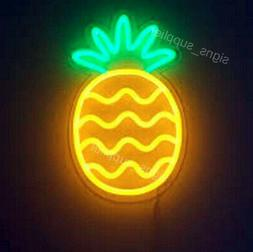 "Pineapple Fruit Neon Lamp Sign 14""x10"" Acrylic Bright Lighti"