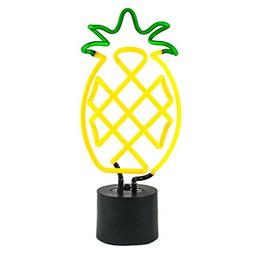 Amped & Co Pineapple Real Neon Light Indoor Decorative Lamp,