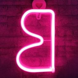 Pink LED Neon Signs Letters Light Up Neon Alphabet Marquee D