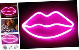 pink lip neon light sign led lips