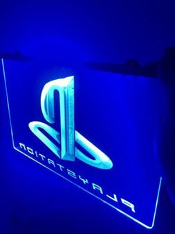 PLAYSTATION LED Light Sign for Game Room,Office,Bar,Man Cave