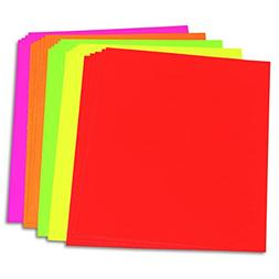 Pacon 104234 Neon Color Poster Board, 28 x 22, Green/Orange/