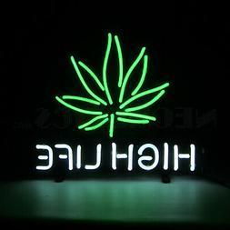 Pot Leaf neon sign hand blown Glass wall lamp light Legal ma