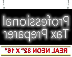 "Professional Tax Preparer Neon Sign | Jantec | 32"" x 16"" | T"