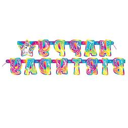 5.5ft Rainbow Majesty by Lisa Frank Birthday Banner