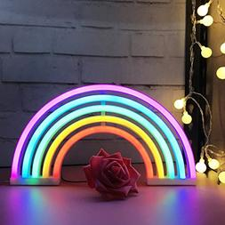 AIZESI Rainbow Neon Light Sign,Rainbow LED Lamp Rainbow Deco